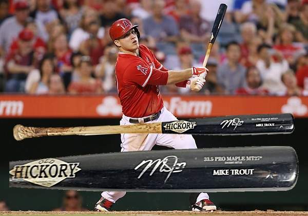 Mike Trout Signed & Game Used 2014 MVP Old Hickory Baseball Bat PSA GU 10!
