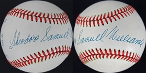 "Ted Williams Signed OAL Baseball w/ RARE Full ""Theodore Samuel Williams"" Autograph (PSA/DNA)"