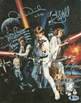 "Star Wars Incredible Cast Signed 8"" x 10"" Classico Postcard with RARE Alec Guinness and 6 Others! (BAS/Beckett)"