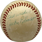 Jackie Robinson Superb Single Signed Official League Baseball (PSA/DNA)