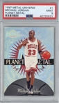 Michael Jordan 1997 Fleer Metal Universe #1 Basketball Card - PSA Graded MINT 9!