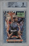 Shaquille ONeal 1992-93 Stadium Club Beam-Team Members Only Rookie Card - BGS Graded MINT 9!