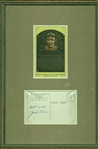 Jackie Robinson Signed Hall Of Fame Plaque Card (Beckett/BAS Guaranteed)
