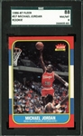1986-87 Fleer Michael Jordan Rookie Card #57 - SGC Graded NM-MT 8!