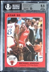 Michael Jordan Ultra Rare Signed 1985 Star Team Supers 5x7 Card #CB1 (Beckett BGS 8.5 & UDA)