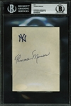 "Thurman Munson Superb  4"" x 5.5"" Signature on Yankees Stationary - JSA LOA & BAS/Beckett Graded GEM MINT 10!"