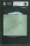 "Grover Cleveland Alexander Vintage Signed 4"" x 5"" Album Page (BAS/Beckett Encapsulated)"
