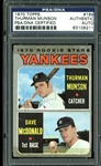 Rare Thurman Munson Signed 1970 Topps #189 Rookie Card (PSA/DNA Encapsulated)
