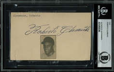 Roberto Clemente Phenomenal Vintage Ink Signature (BAS/Beckett Encapsulated)