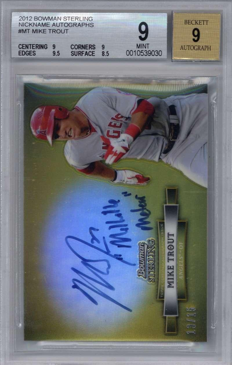Lot Detail Mike Trout Signed 2012 Bowman Sterling