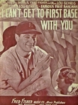 "Lou Gehrig Near-Mint Signed ""I Cant Get To First Base With You"" Program (JSA)"