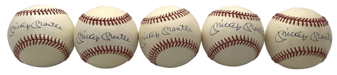 Mickey Mantle Lot of Ten (10) Signed OAL Baseballs (Beckett/BAS Guaranteed)