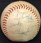Ty Cobb Superbly Signed OAL Baseball (PSA/DNA)