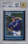 Clayton Kershaw Signed 2006 Bowman Chrome Draft Prospects BGS 8.5 w/ 10 Auto!