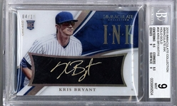 Kris Bryant Signed 2015 Immaculate Collection Rookie Card #39 - BGS 9!
