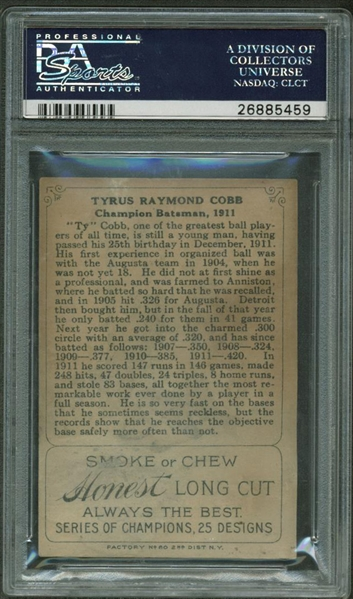 Ty Cobb 1912 Series of Champions T227 Card (PSA Graded GOOD 2)
