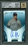 Aaron Judge Signed Limited Edition (09/25) 2013 Bowman Sterling Blue Refractors - BGS 8.5 w/ 10 Auto!