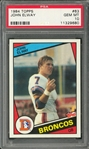 John Elway Rare 1984 Topps #63 Rookie Card - PSA Graded GEM MINT 10!