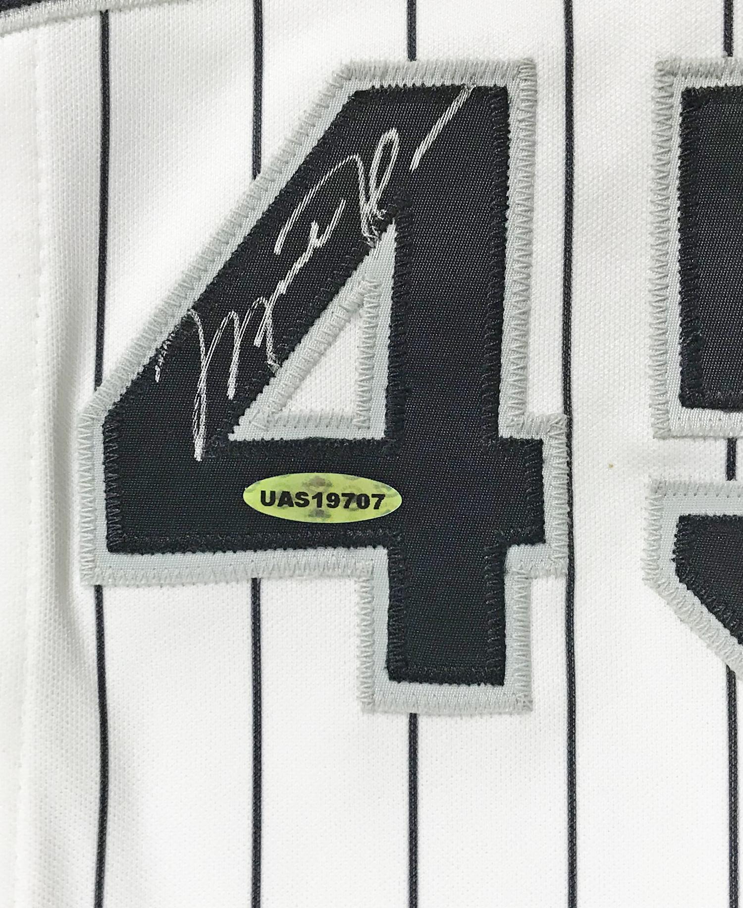 a5654d880ca ... Michael Jordan Signed Birmingham Barons Minor League Baseball Jersey  (UDA) ...
