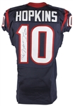 DeAndre Hopkins Game Used & Signed Houston Texans Home Jersey from 10/16/2016 vs Indianapolis (RGU & PSA/DNA)