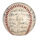 1955 W.S. Champion Brooklyn Dodgers Team-Signed Baseball w/ Robinson, Koufax, and 21 Others! (JSA)