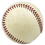 RARE Walter Johnson Single Signed Reach OAL (Harridge) Baseball (PSA/DNA)