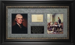 Thomas Jefferson Signed Presidential Free Frank (BAS/Beckett)