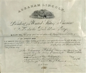 Abraham Lincoln Signed 1861 Presidential Appointment (Beckett/BAS)