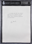 President George H.W. Bush Signed Oath of Office Print (BAS/Beckett)