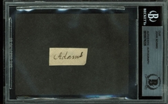 President John Adams Rare Signature Cut (BAS/Beckett Encapsulated)