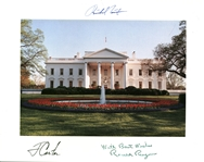 "Richard Nixon, Ronald Reagan & Jimmy Carter Signed 8"" x 10"" White House Photograph (Beckett/BAS Guaranteed)"