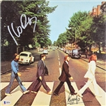 "The Beatles: Ringo Starr & Cover Art Director John Kosh Dual-Signed ""Abbey Road"" Album (BAS/Beckett)"