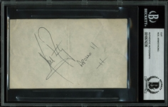 "Apollo 11: Neil Armstrong Superb Autograph with RARE ""Apollo 11"" Inscription (BAS/Beckett Encapsulated)"
