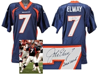 1997 John Elway Denver Broncos Game Used, Signed & Inscribed Jersey (Miedema & BAS/Beckett)