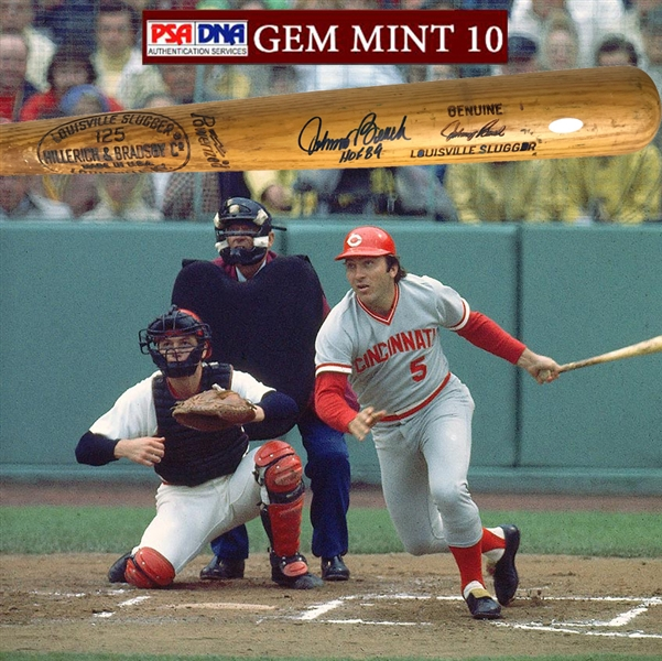 Johnny Bench Signed & Game Used B278 1973-75 Baseball Bat PSA/DNA GU 10!