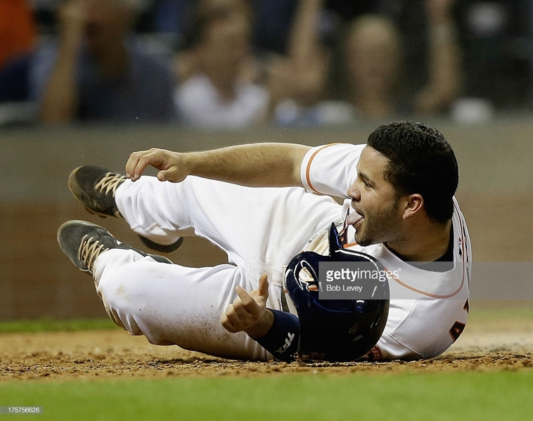 Jose Altuve Game Used/Worn August 13th, 2013 Astro Cleats w/ Exact Photomatch! (Mears Guaranteed)