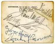 "The Beatles: Group Signed 3.5"" x 3"" Amsterdam Photograph c. 1963! (Tracks & Beckett/BAS)"