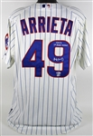 Jake Arrieta 2014 Game Worn & Signed Chicago Cubs Jersey - 9/16/14 vs. Cincinnati Reds - A One-Hit, Complete Game Victory! (MLB)