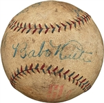 Babe Ruth & Lou Gehrig Outstanding Dual-Signed OAL (Johnson) Baseball Used During Barnstorming Tour! (PSA/DNA)