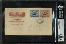 Pablo Picasso Signed 1951 Czech First Day Cover (BAS/Beckett Encapsulated)
