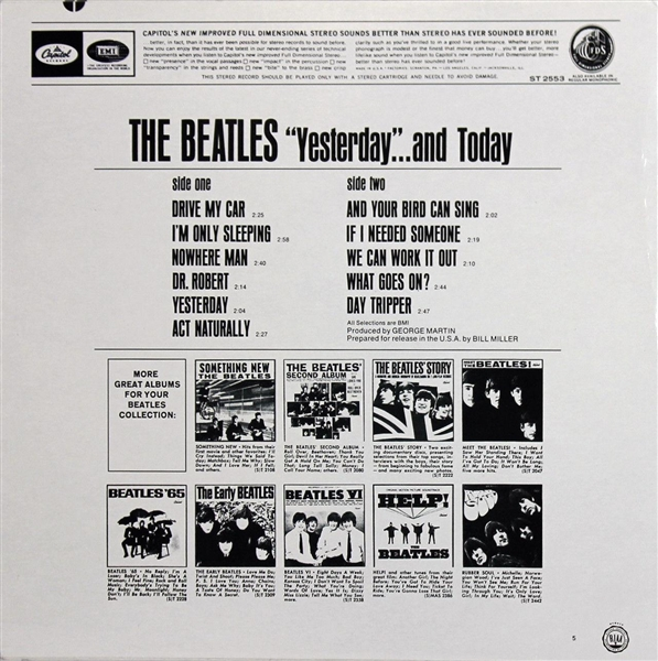 The Beatles: Paul McCartney Signed Yesterday and Today BUTCHER COVER Album! (BAS/Beckett)