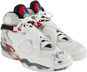 Michael Jordan Game Used/Worn & Signed 1992/93 Nike Sneakers (Bulls & Upper Deck)