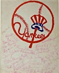 "1972 NY Yankees Team Signed 11"" x 14"" Artwork w/ Munson, Murcer, Howard & Others! (JSA)"