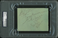 "The Beatles Group Signed 4"" x 5.5"" Album Page w/ All Four Signatures! (PSA/DNA Encapsulated & Tracks)"