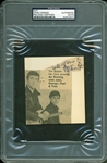 "The Beatles: John Lennon Signed & Inscribed 3.75"" x 4"" Newspaper Photo Cut (PSA/DNA Encapsulated)"
