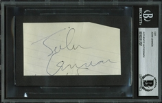 "The Beatles: John Lennon Signed 2.25"" x 4.25"" Cut (BAS/Beckett Encapsulated)"