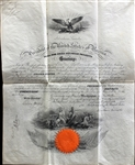 President Abraham Lincoln Signed & Civil War Dated Ornate Naval Commission (1864)(BAS/Beckett)