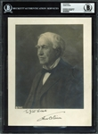 "Thomas Edison SUPERB Signed Vintage 7.5"" x 9.5"" Photo Graded MINT 9 (BAS/Beckett Encapsulated)"