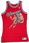 Michael Jordan One-Of-A-Kind Signed Bulls Jersey w/Hand-Painted Acrylic Artwork by William Zavala (UDA)