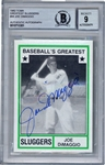 Joe DiMaggio Signed 1982 TCMA Greatest Sluggers #44 Baseball Card BGS MINT 9!